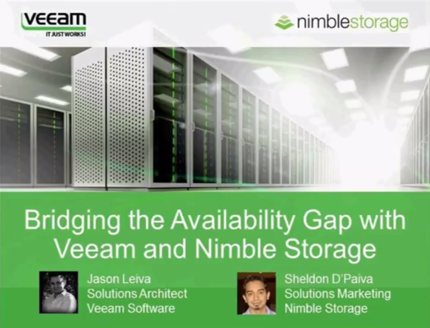 Bridging the availability gap with Veeam and Nimble