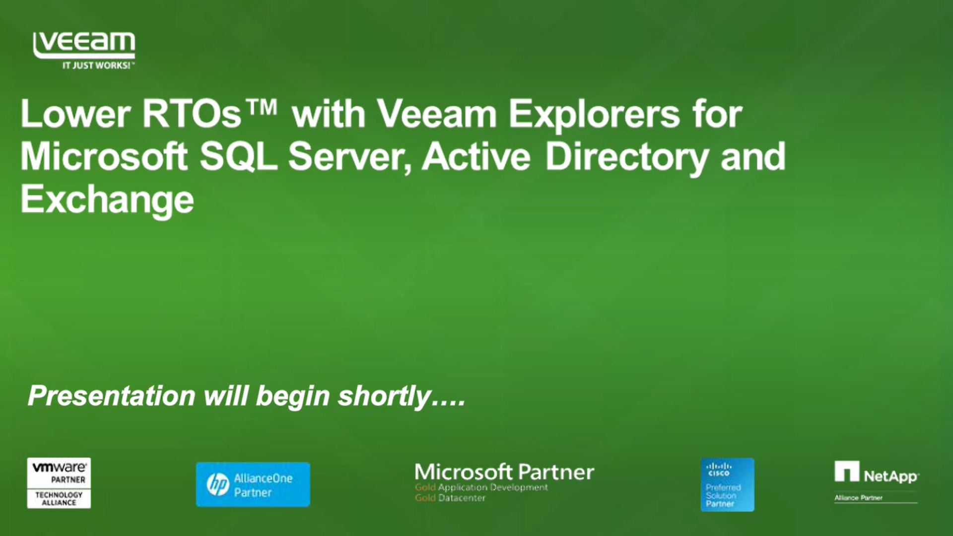 Veeam Explorers for Microsoft SQL Server, Active Directory and Exchange