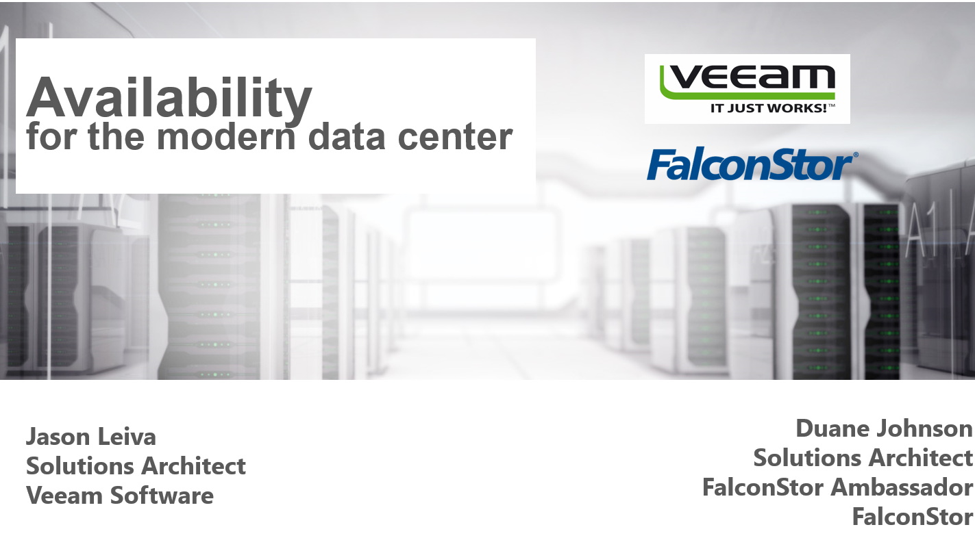 Virtual Tape Libraries in vSphere & Hyper-V Modern Data Centers