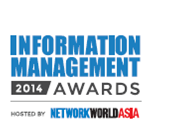2014 Most Promising Data Management Solution by  NetworkWorld Asia's (NWA) Information Management Awards