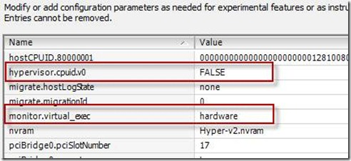 try this through the vSphere Client in the settings of the virtual machine configuration parameters
