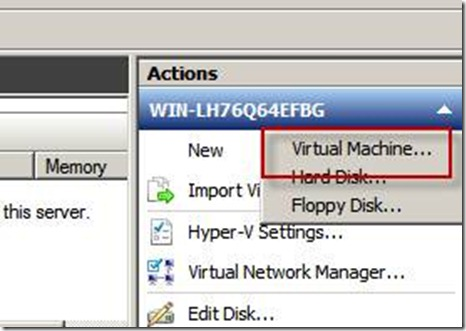 creating and installing a virtual machine.