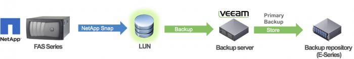 Backup from NetApp snapshots