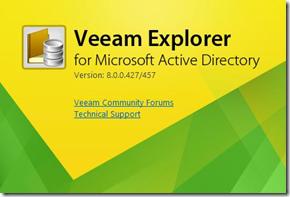 Veeam Explorer for Active Directory