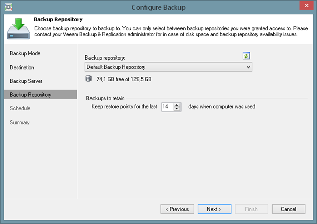 Using Veeam Backup & Replication repository with Veeam Endpoint Backup FREE