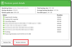 Laptop and PCs Volume recovery with Veeam Endpoint Backup FREE