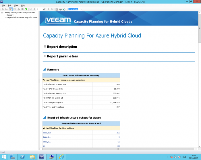 Veeam's hybrid-cloud capacity planning for Microsoft Azure or VMware vCloud Air