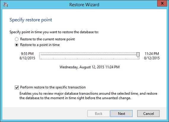 Restoring SQL Server database table
