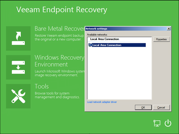 Network settings auto configuration - Veeam Laptop recovery