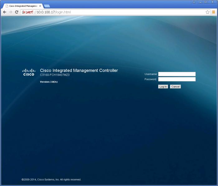 Cisco Integrated Management Controller