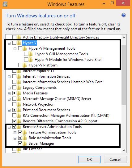 Windows 8.1 Features after RSAT installation
