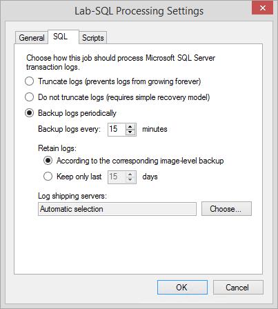 SQL Server processing options