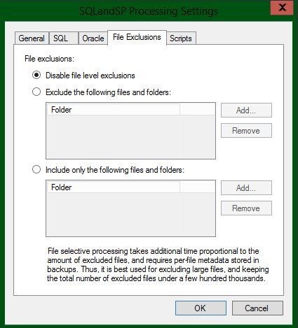 You'll also need to configure the exclusion of specific files and folders for each backup job.