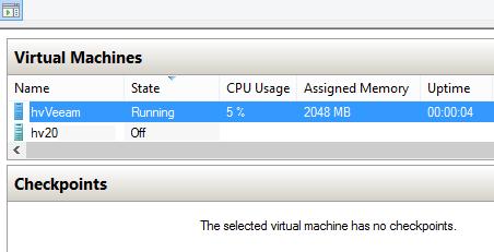 Hyper-V dynamic memory. VM is booting