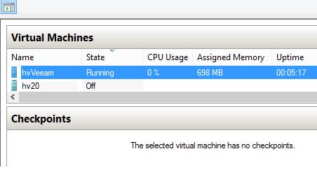 Hyper-V dynamic memory. VM is idle