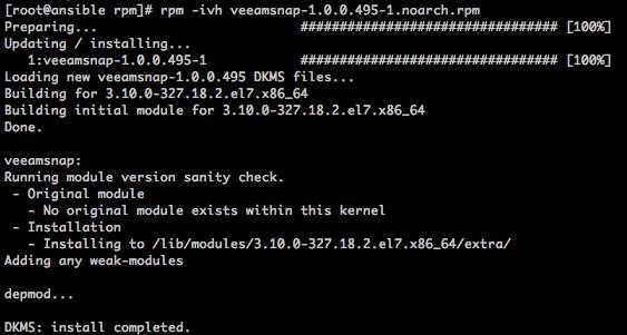 Veeam Backup from Storage Snapshots