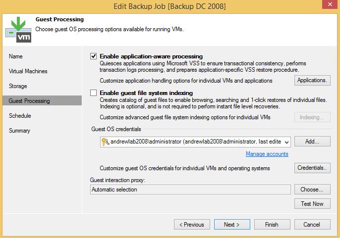 VBR-Editing Backup Job