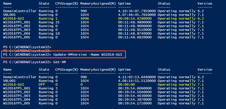 Update Hyper-V VM version