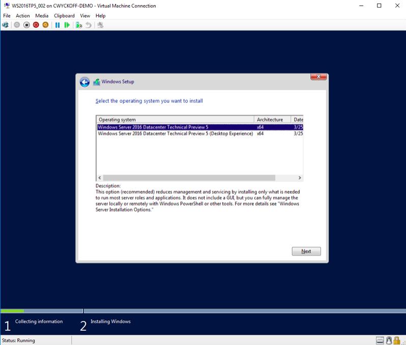 Windows Server 2016 installation-2