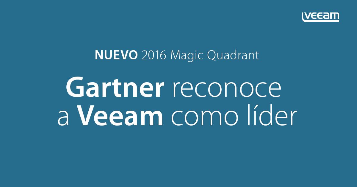 Gartner nombra a Veeam como LÍDER en el nuevo Cuadrante Mágico de 2016 en Recuperación y Backup de Centros de Datos