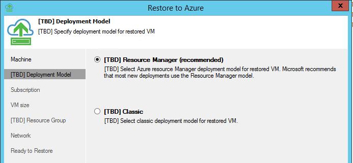 Direct Restore to Microsoft Azure