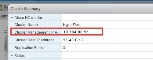 Cisco HyperFlex integration