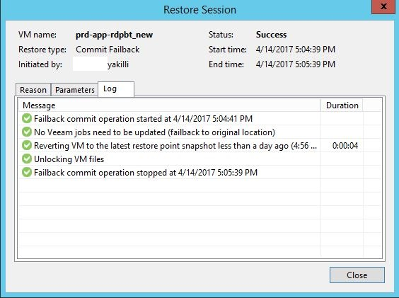 Veeam Backup & Replication ile adım adım failover ve failback