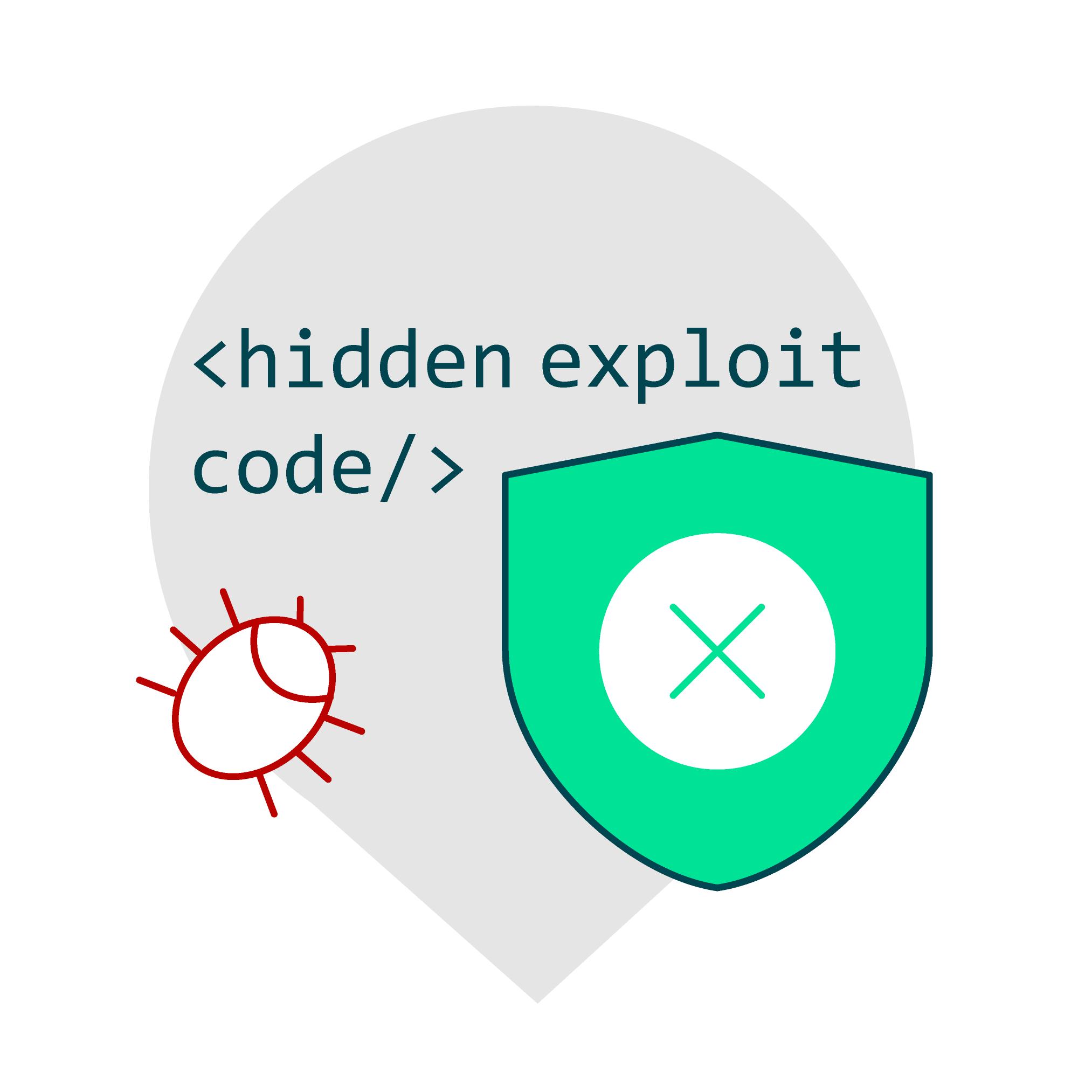 Hidden exploit codes on the website