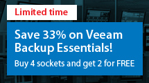 Save 33% on Veeam Backup Essentials!