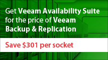 Get Veeam Availability Suite Enterprise Plus edition for the price of Veeam Backup & Replication