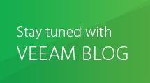 Stay tuned with Veeam Blog