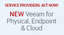 NEW Veeam for Physical, Endpoint & Cloud