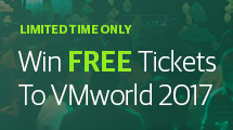 Win a FREE ticket to VMworld 2017 in the US or Europe!