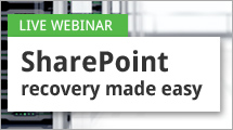 SharePoint recovery made easy