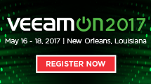 Register today for VeeamON 2017!