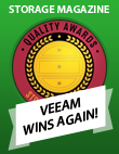 Veeam Named Winner of Storage Magazine's Quality Awards
