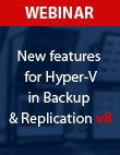 New capabilities for Hyper-V in VBR v8