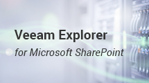 Site collection restore for SharePoint NEW Veeam Availability Suite 9.5