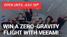 Win a zero-gravity flight with Veeam!