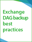Exchange DAG Backup and Design Best Practices