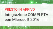 Integrazione COMPLETA con le tecnologie data center di Microsoft 2016
