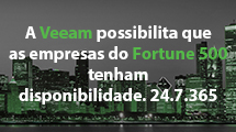 A Veeam possibilita que as empresas do Fortune 500 tenham disponibilidade contínua. 24.7.365