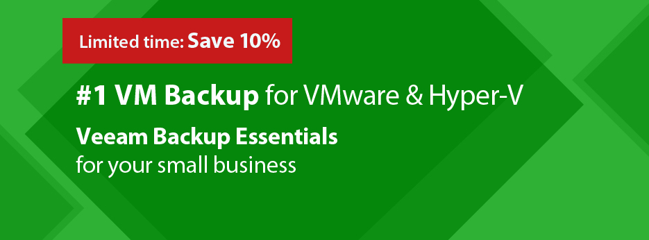 Save 10% on Veeam Backup Essentials