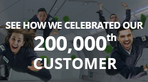 We celebrated our 200,000th customer with an all-inclusive zero-gravity flight.
