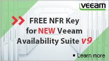 FREE NFR Key for NEW Veeam Availabilty Suite v9
