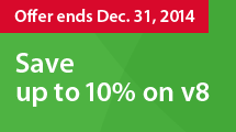 Save up to 10% and get FREE upgrade to NEW v8