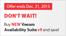 Buy Veeam Availability Suite v9 before the price goes up.