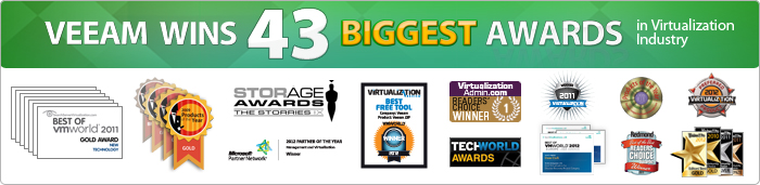 Virtualization industry awards: VMworld, SearchServerVirtualization, Virtualization Review