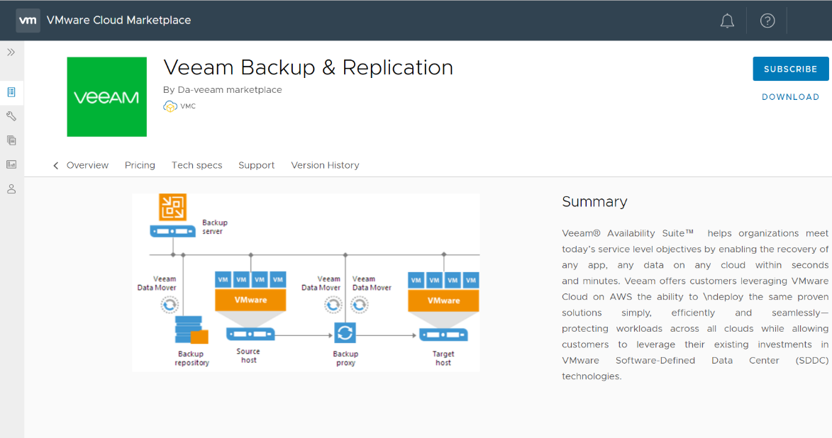 Veeam is Now Available via the VMware Cloud Marketplace