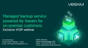 Managed backup service powered by Veeam for on-premise customers